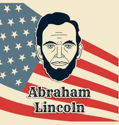 president abraham lincoln poster banner or vector image