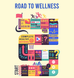 puzzle board rode to wellness game vector image