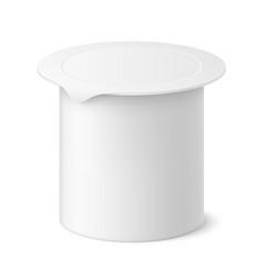 realistic yogurt package vector image