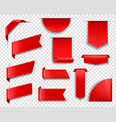 red labels tags and banners set vector image