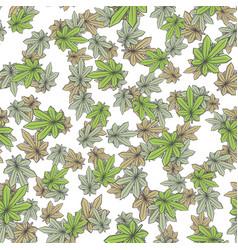 Seamless texture marijuana two vector