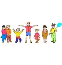 Set of colorful children vector