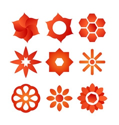 Set of Style Flowers vector image