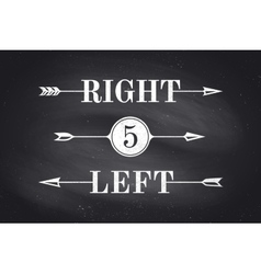 Set of vintage arrows and banners with text Right vector image