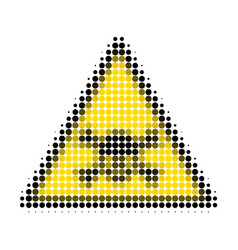 skull toxic warning halftone dotted icon vector image