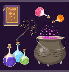special magic effect trick symbol magician wand vector image