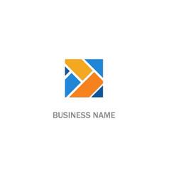 square shape colorful company logo vector image