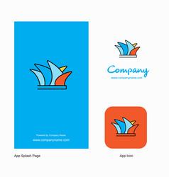 sydney company logo app icon and splash page vector image
