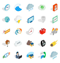 temporary problem icons set isometric style vector image