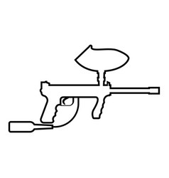 weapons for paintball icon black color flat style vector image