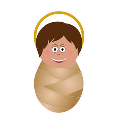 baby jesus icon vector image