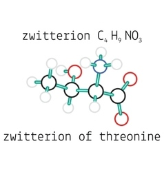 C4H9NO3 zwitterion threonine amino acid molecule vector image vector image