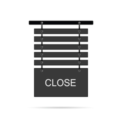 close signboard vector image
