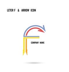 Creative letter F icon logo design vector image