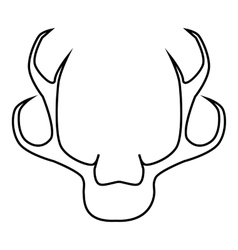 Deer antler icon outline style vector image vector image