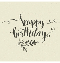 Happy Birthday Hand-drawn card vector image