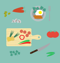 healthy breakfast flat style vector image