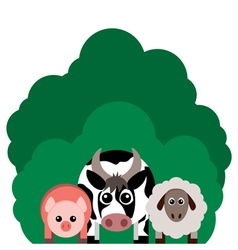 farm animals Cow sheep pig vector image vector image