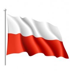 flag of Poland vector image