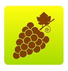 grapes sign brown icon at vector image