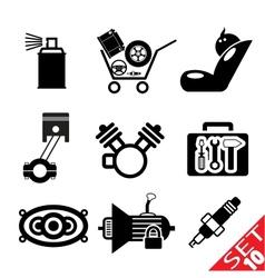 car part icon set 10 vector image vector image