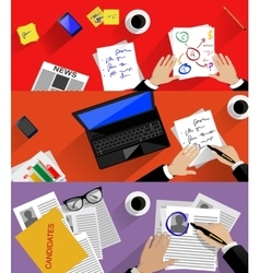 Concept of searching professional staff analyzing vector image vector image