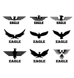 Eagles logo set vector image vector image