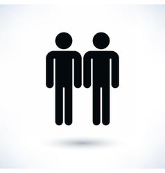 Gay marriage homosexual black icon vector