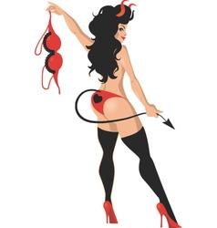 Sexy devil vector image vector image