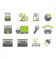 website real estate icons vector image
