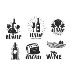 wine winery logo drink alcoholic beverage vector image