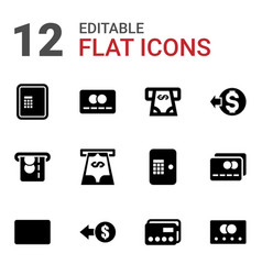 12 transaction icons vector
