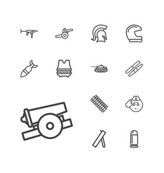 13 army icons vector