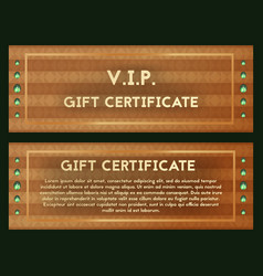 A gift certificate with precious jade voucher vector