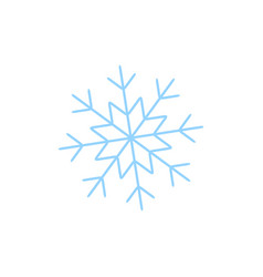a snowflake of winter icon vector image