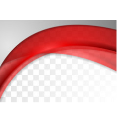 Abstract bright red transparent waves background vector