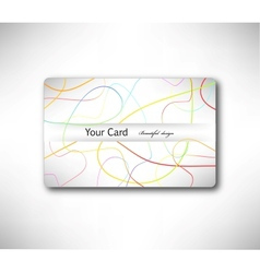 Abstract gift Card with colorful lines vector image