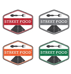 Abstract vintage label with text Street food vector