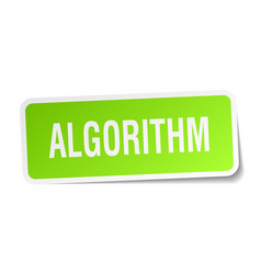 Algorithm square sticker on white vector