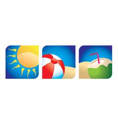 beach logos vector image