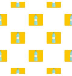Bottle of water pattern flat vector