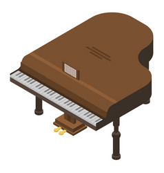 brown grand piano icon isometric style vector image