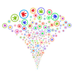 Cannabis fountain stream vector