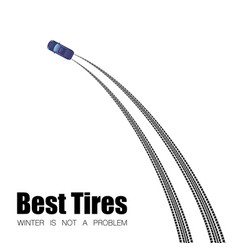 car tire tracks text background vector image