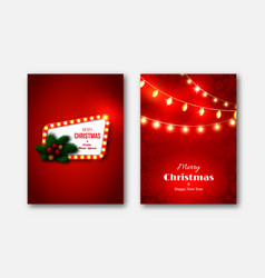 christmas brochures templates decorative cards vector image