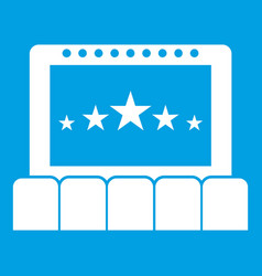 cinema icon white vector image
