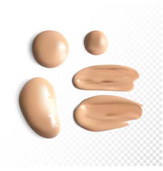 Cosmetic concealer smear strokes tone cream vector