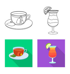 design of drink and bar logo collection of vector image
