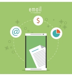 Document and smartphone icon Email design vector