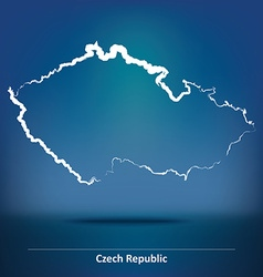 Doodle Map of Czech Republic vector image
